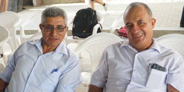 Hno. Samuel Bobbio (izq) y PSA Wilmer Córdova, de la IM de Nuevo Progreso, Tumbes.